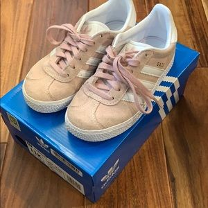 Adidas Gazelle Sneakers - Pink Suede - Size 11K